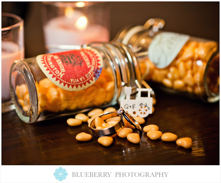 San Francisco Orinda Country Club cute party favors wedding ring photography