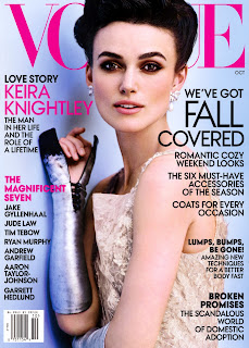 Keira Knightley covers Vogue US October 2012 issue