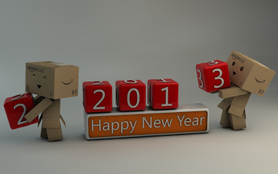 Danbo Happy New Year 2013 by DracuTeufel666