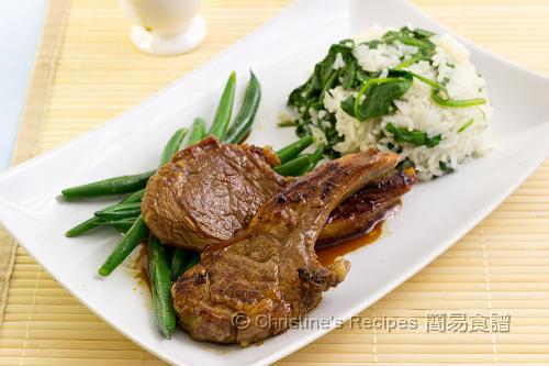 煎羊扒配菠菜飯 Pan-fried Lamb Cutlets with Spinach Rice02