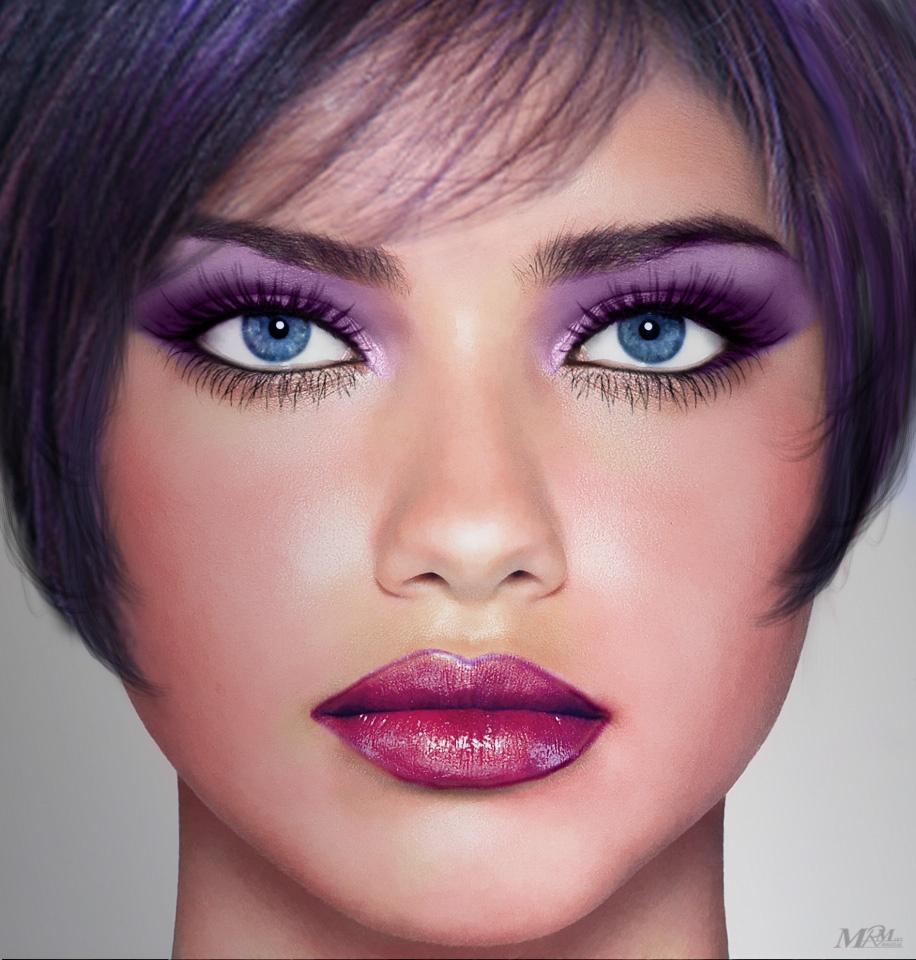 Фото макияжа овального лица