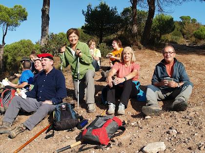 Esmorzant amb els amics Lluís, l'Assumpta i la Maria Àngels, a la Collada de Mansa