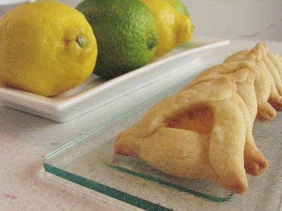 ... ultimate classic pairing - chocolate and peanut butter hamantaschen