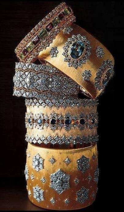 Buccellati gold cuffs