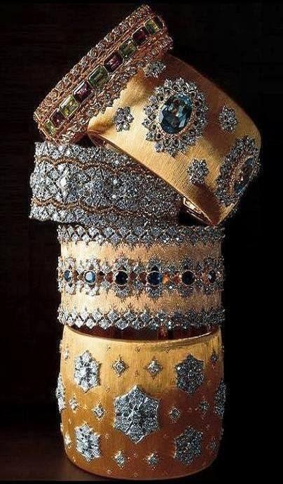 Buccellati gold cuffs