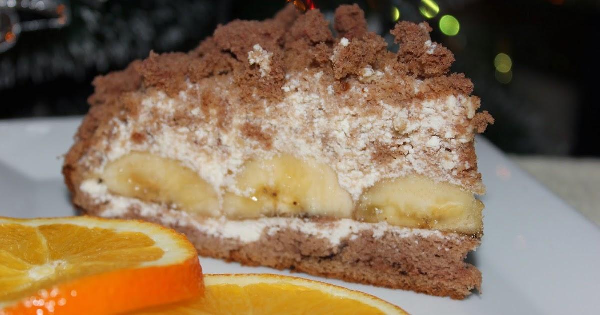 Приготовление тортов с бананами