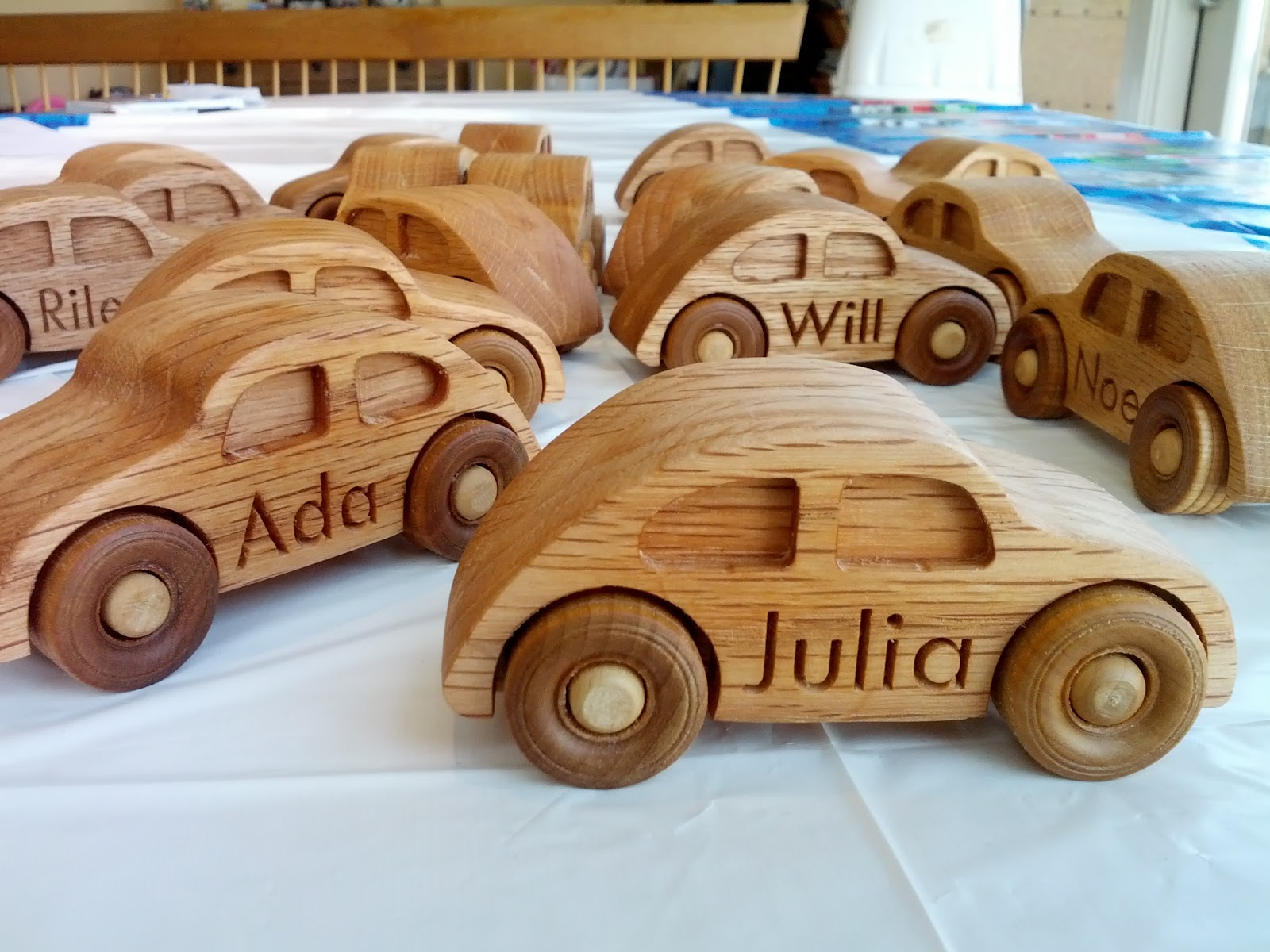 ... with wheels, I've made a fair number of wooden toy vehicles
