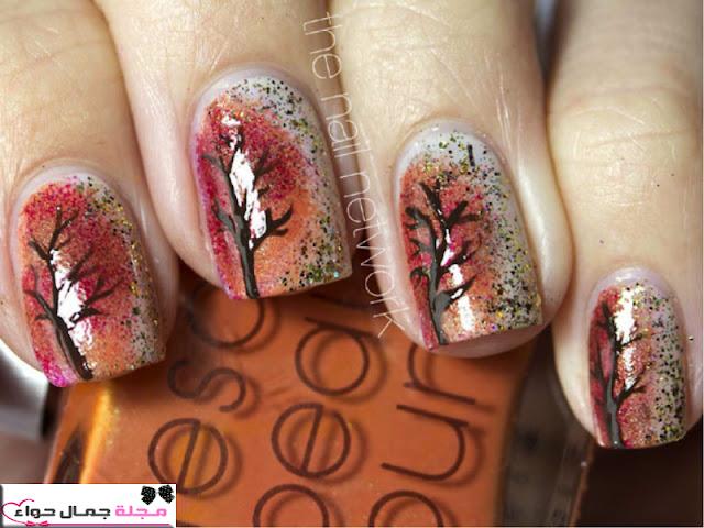 12 رسمة لطلاء الأظافر لخريف 2016 Fall's Best Nail Art