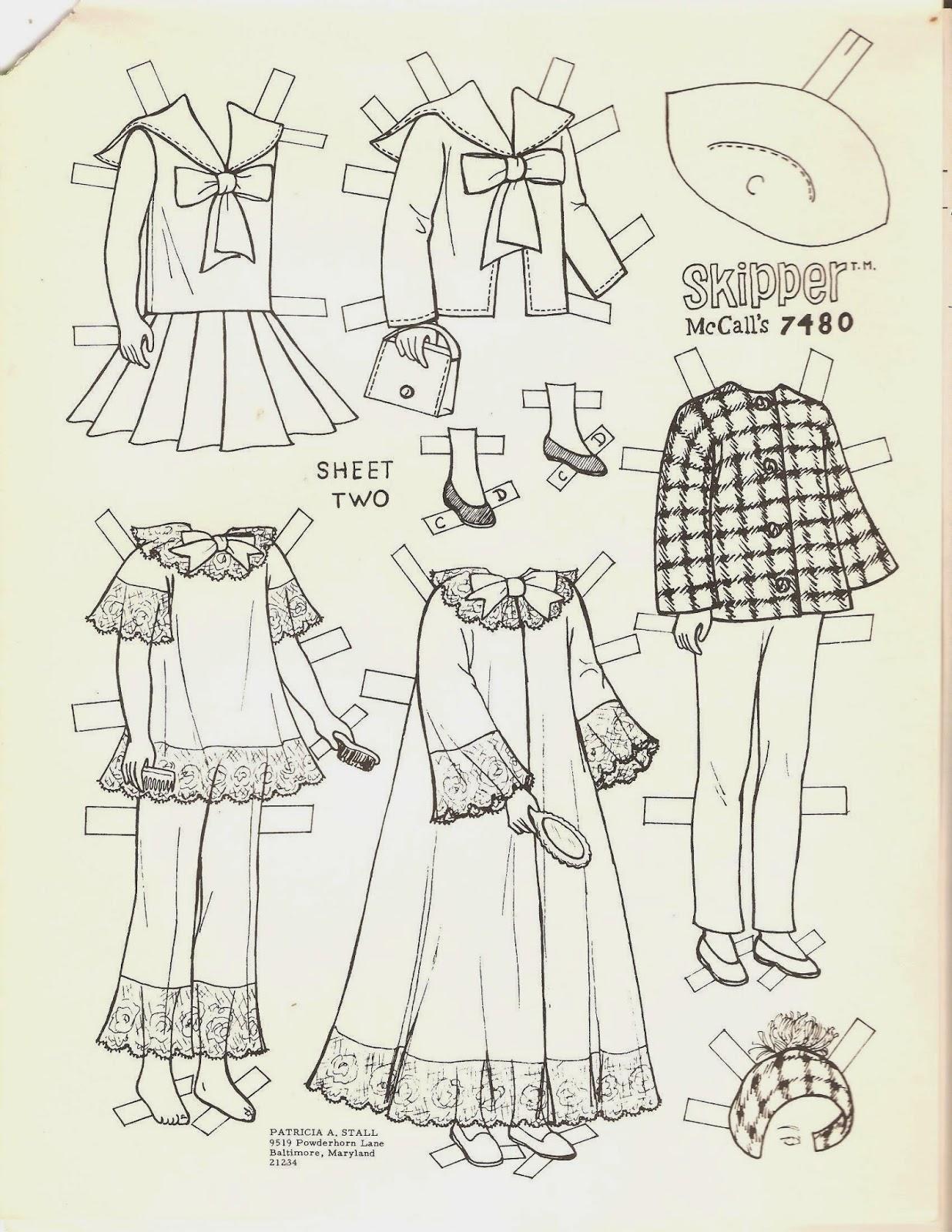 Miss Missy Paper Dolls Barbie S Little Sister Skipper Coloring Set Skipper Coloring Pages