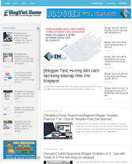 Chia sẻ Template Responsive Eblogviet Ver 1.0 giống trang Eblogviet, convert từ Theme Junkie