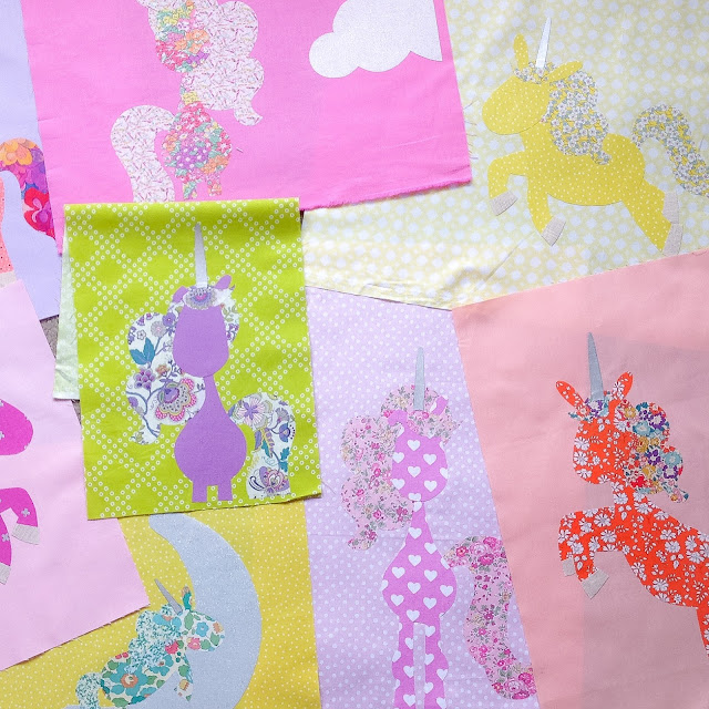 Rainbow Liberty Pattern pieces for Unicornia Quilt Pattern by Claire Turpin Designs