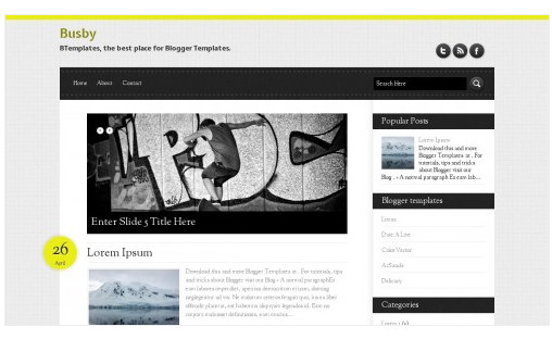 wordpress template blogger