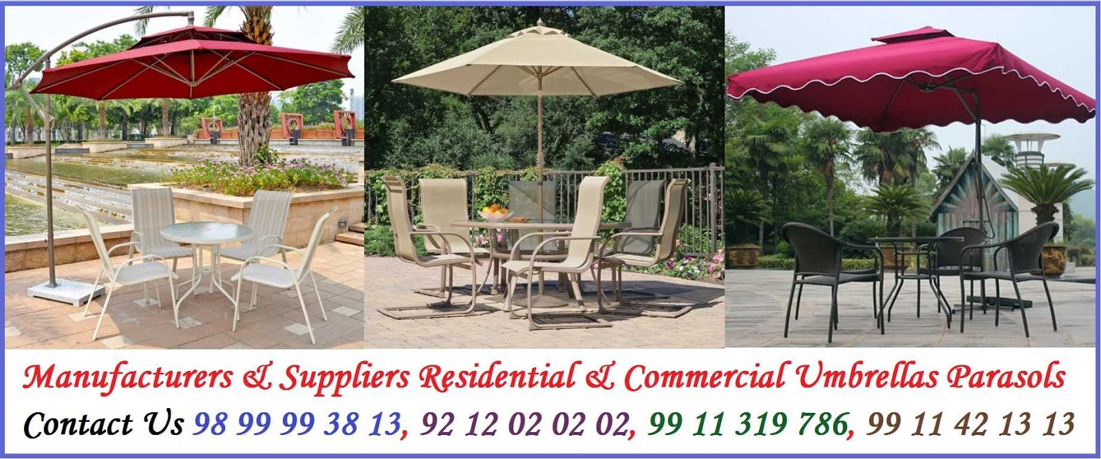 Manufacturers & Suppliers of Residential, Commercial & Outdoor Umbrellas