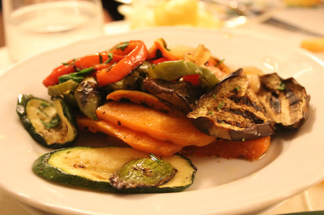 Grilled vegetables at Adamo ed Eva, Positano, Italy