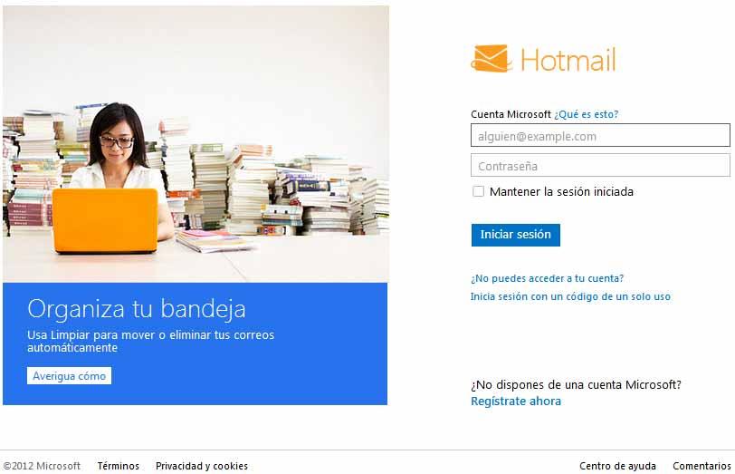 Hotmail Inicio De Sesion
