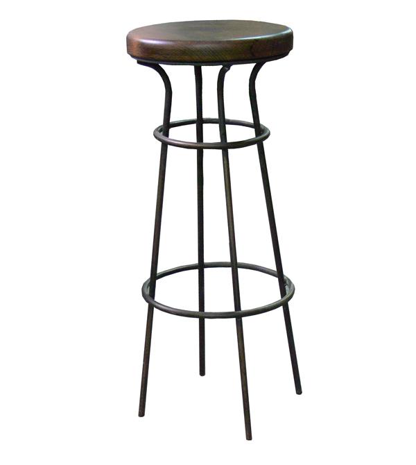 Mesas y sillas en metal de estilo industrial en hierro y - Asientos para taburetes ...
