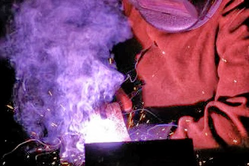 Man welding, CT school for Welding certification, training