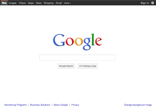 Google Home Page Redesign
