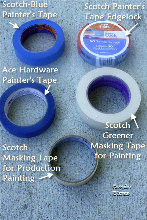 condo blues tool test masking tape vs painter s tape. Black Bedroom Furniture Sets. Home Design Ideas