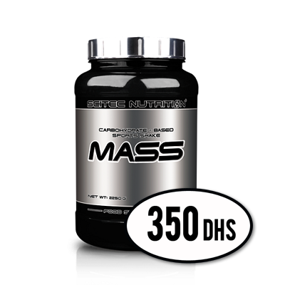 MASS Scitec Nutrition 2250g - NutriSport Marrakech