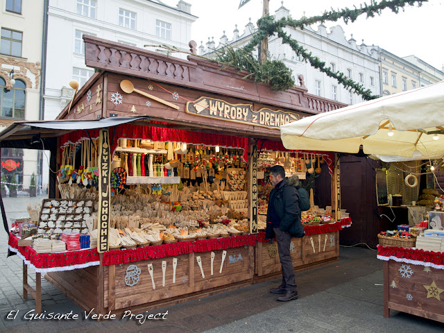 Mercado Navideño - Rynek Glowny, Cracovia por El Guisante Verde Project