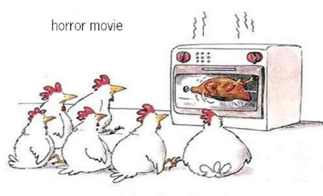 Watching Horror Movie