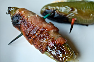 Grilled Jalapeno Poppers with Bacon