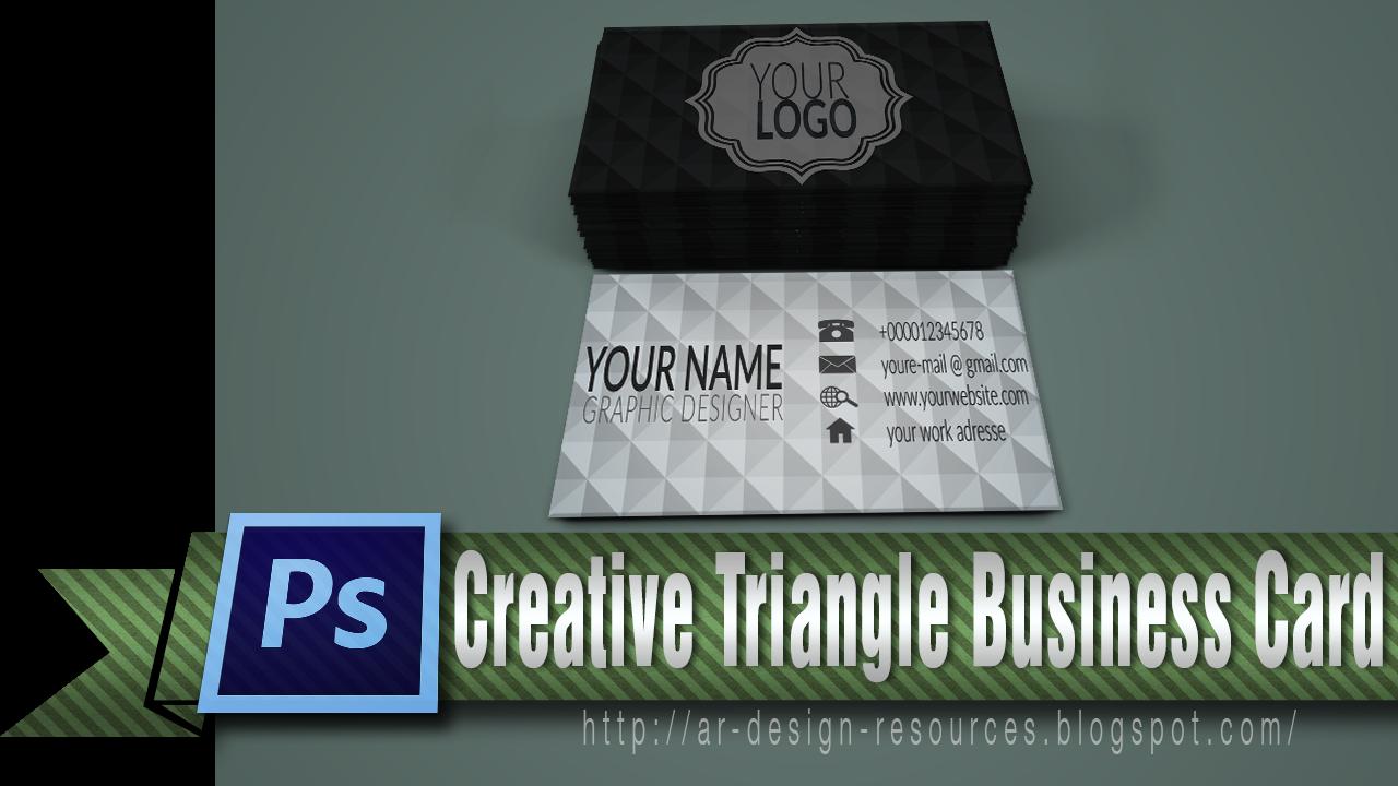 Creative triangle Personal business card | Adobe Photoshop Tutorial