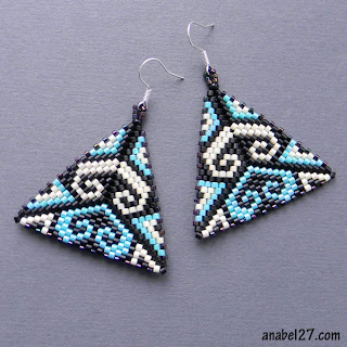 beadwork jewelry beaded earrings peyote triangles anabel blog