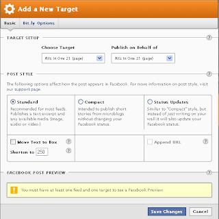 Membuat posting terupdate otomatis di facebook