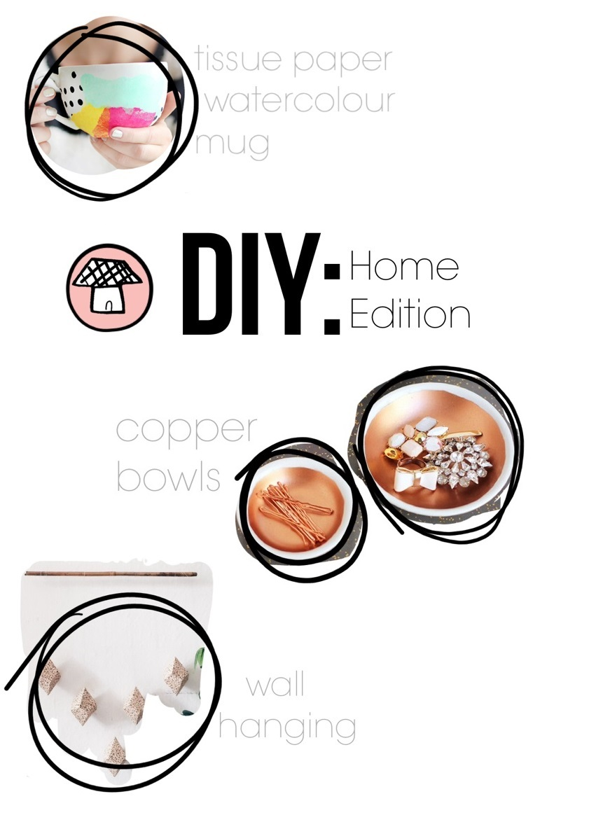 DIY home edition mug ispydiy  tissue paper watercolour mug, pink blue copper mugs stuff pinterest