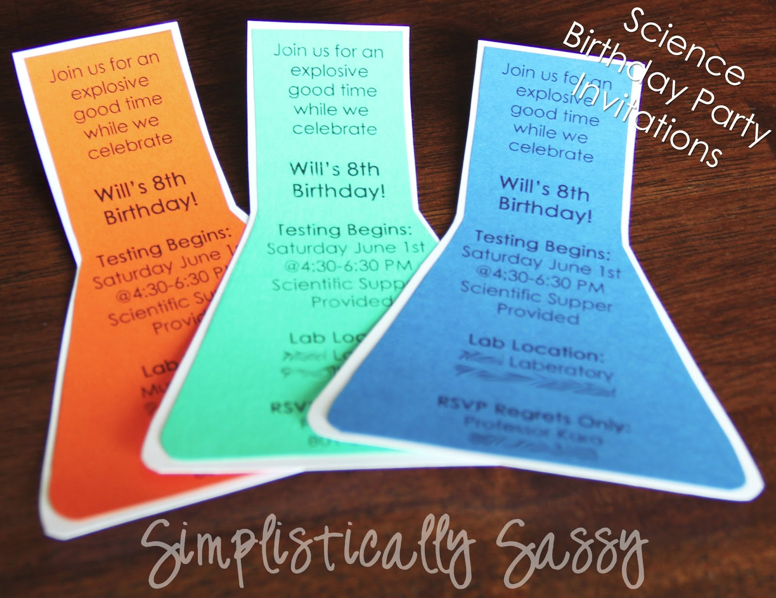 science birthday party invitations by simplistically sassy