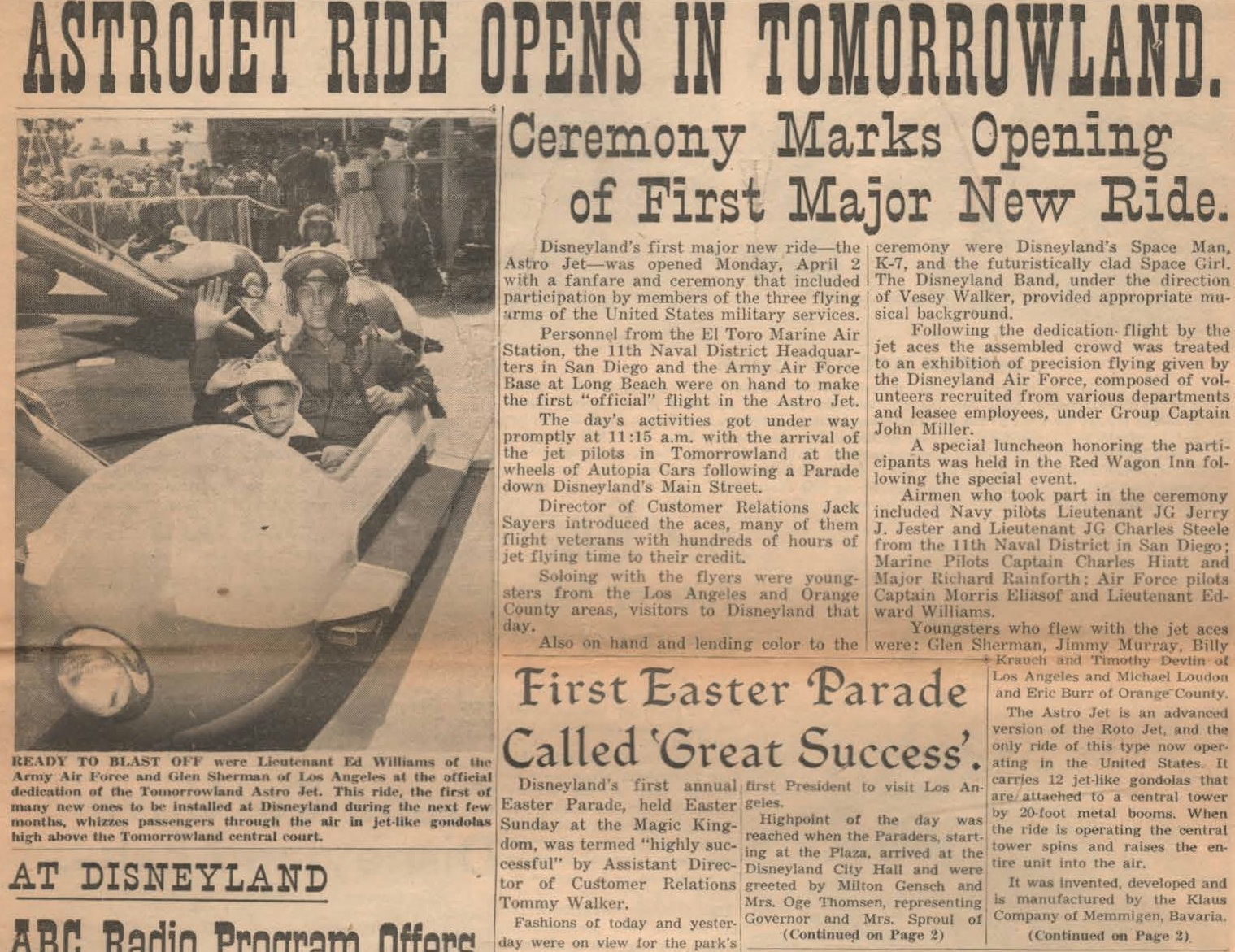 Old tomorowland month disneyland s first quot major new ride quot disney