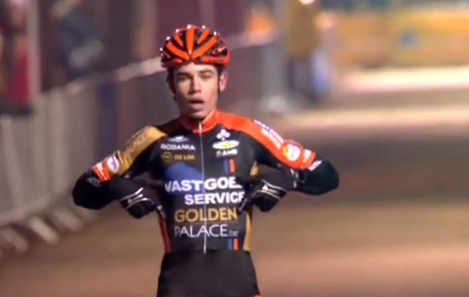 Wout van Aert remporte le Zilvermeercross 2014