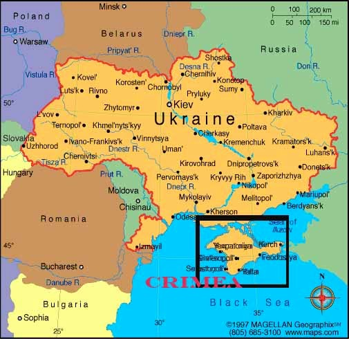 What Do I Know?: From Kiev to Crimea is about the same as from New ...