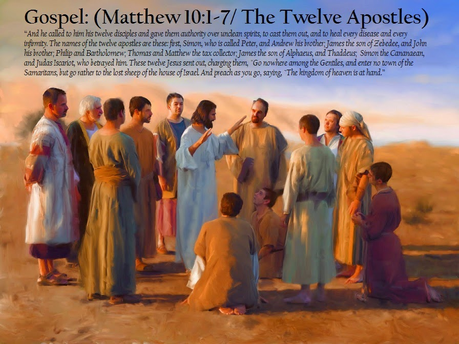 SHARING THE REAL TRUTH: Mt 10:1-7 -- Jesus Sends Out the Twelve - Ġesù  jagħżel it-Tnax + Il-missjoni tat-Tnax --- & --- Lk 6:12-19