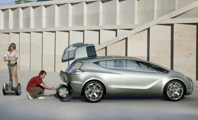 Opel Flextreme Concept with Segway storage