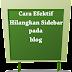 Cara Efektif Menghilangkan Sidebar Pada Blog