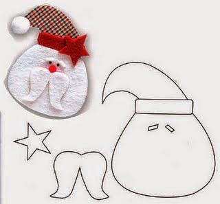 molde de feltro para o natall