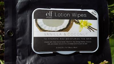 e.l.f Lotion Wipes 'Vanilla & Coconut' www.modenmakeup.com