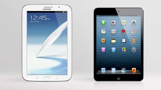 Samsung galaxy note 8 vs. iPad mini