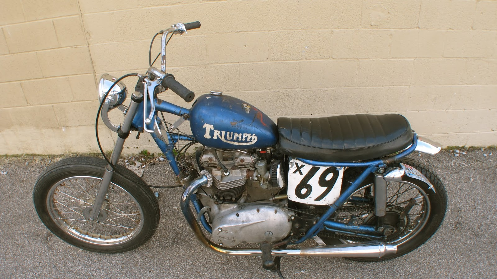 Flyinshoes  FOR SALE 1970 TRIUMPH T120 EX FLAT TRACKER