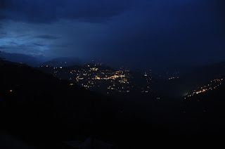 Night view from Tadong, West Sikkim