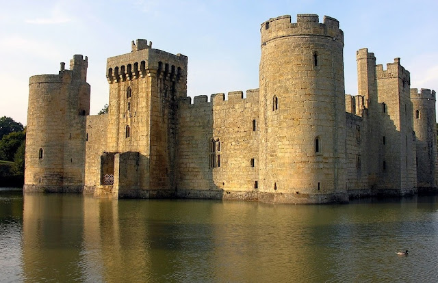 Bodiam Castle in East Sussex, England