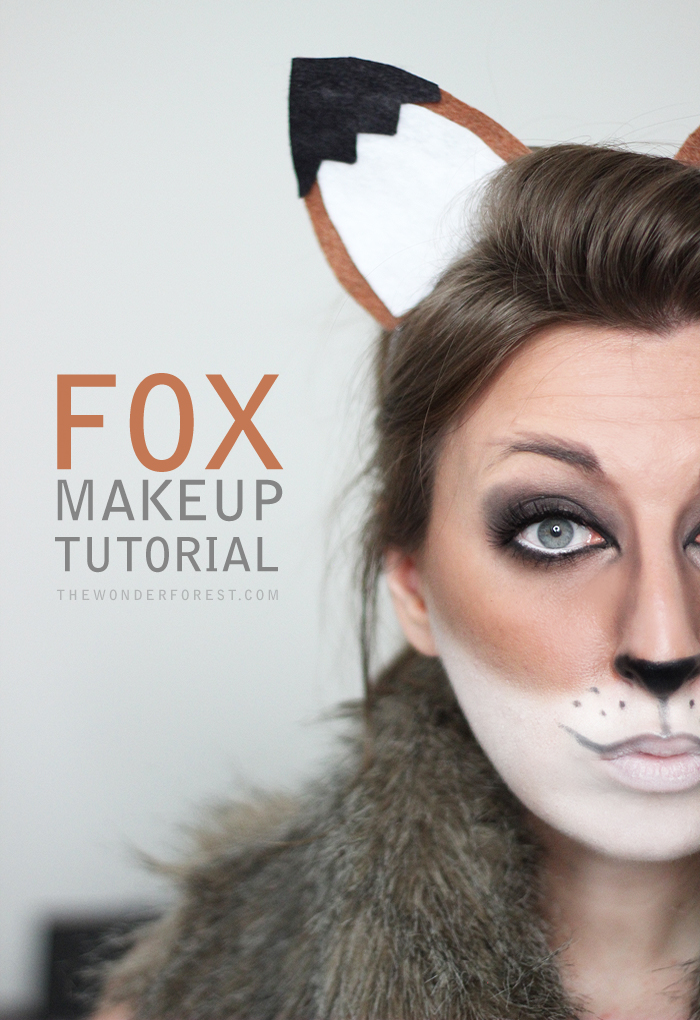 fox makeup tutorial for halloween wonder forest design your life. Black Bedroom Furniture Sets. Home Design Ideas