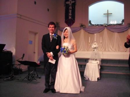 Tim と愛さんの結婚式