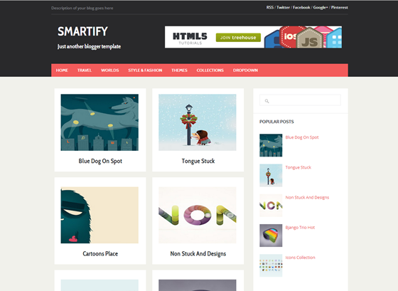 smartify Top best premium blogger templates free