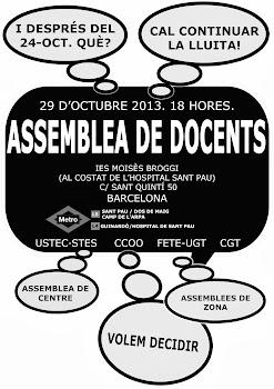 ASSEMBLEA DE DOCENTS 29-OCT