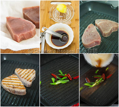 是拉差吞拿魚扒製作圖 How To Make Sriracha Tuna Steaks
