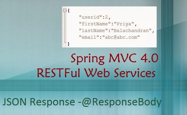 spring mvc 40 restful web service json response with responsebody